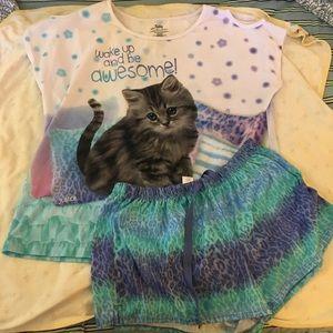 Justice brand pajama set